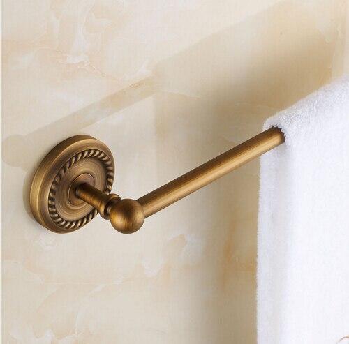 Wall Mounted Single Towel Bar Antique Brass Finish Towel
