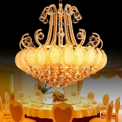 60CM LED European style k9crystal droplight contracted bedroom chandelier crystal lamp 30-41W size:60*60cm