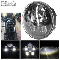 5 3/45.75 Projector Led Headlight with Mount Bracket For 2007 2016 Harley Dyna Street Bob Harley Sportster 883 XL1200 Iron