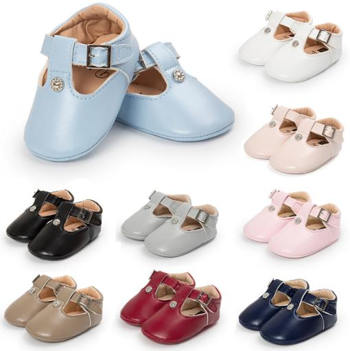 2017 Hot sale Infant Newborn shoes Hollow Fashion Metal First walkers Girls boys Toddler Baby shoes Brand Princess 0-18 Months
