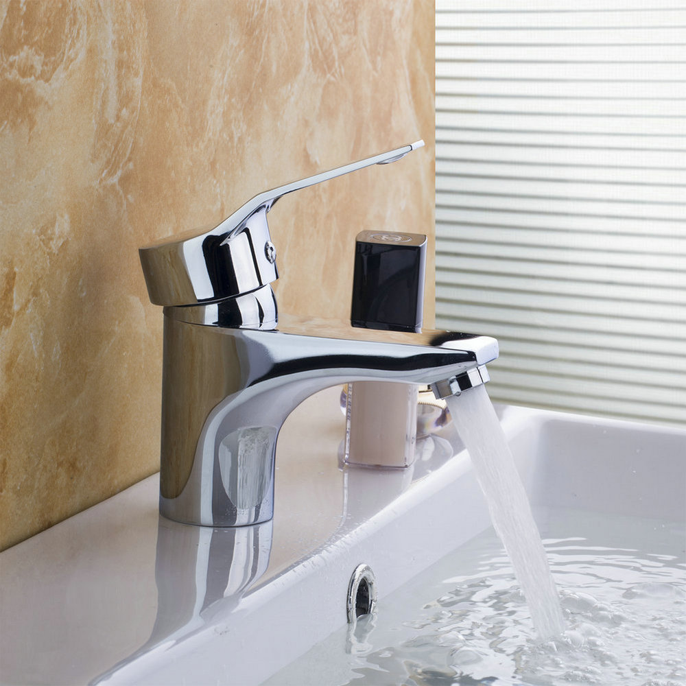 ФОТО Basin Sink Mixer Taps Bathroom Bath Chrome Cloakroom Single Tap Shower Wash Basin Sink Mixer Tap Faucet