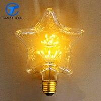 Pentagram Led Bulb E27 110V 220V Edison Retro Lighting Bulbs Edison Hotel Der Bar Decoration Lamp