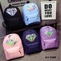 Holográfica mochilas para meninas adolescentes mochila escolar feminina diamante mochila Estudantes sacos de escola para meninas