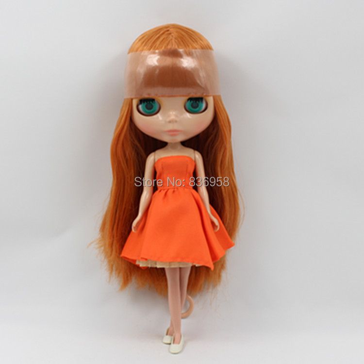 Nude Doll For Series No 0145 BROWN HAIR with bangs