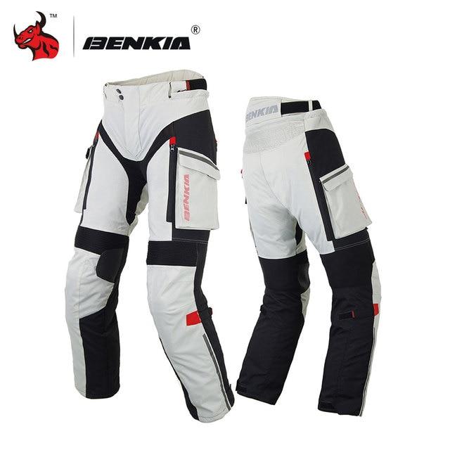 BENKIA Men Motorcycle Pants Winter Rally Pants With Detachable Warm Liner Off Road Motocross Trousers Pantalon Moto S-XXXXL