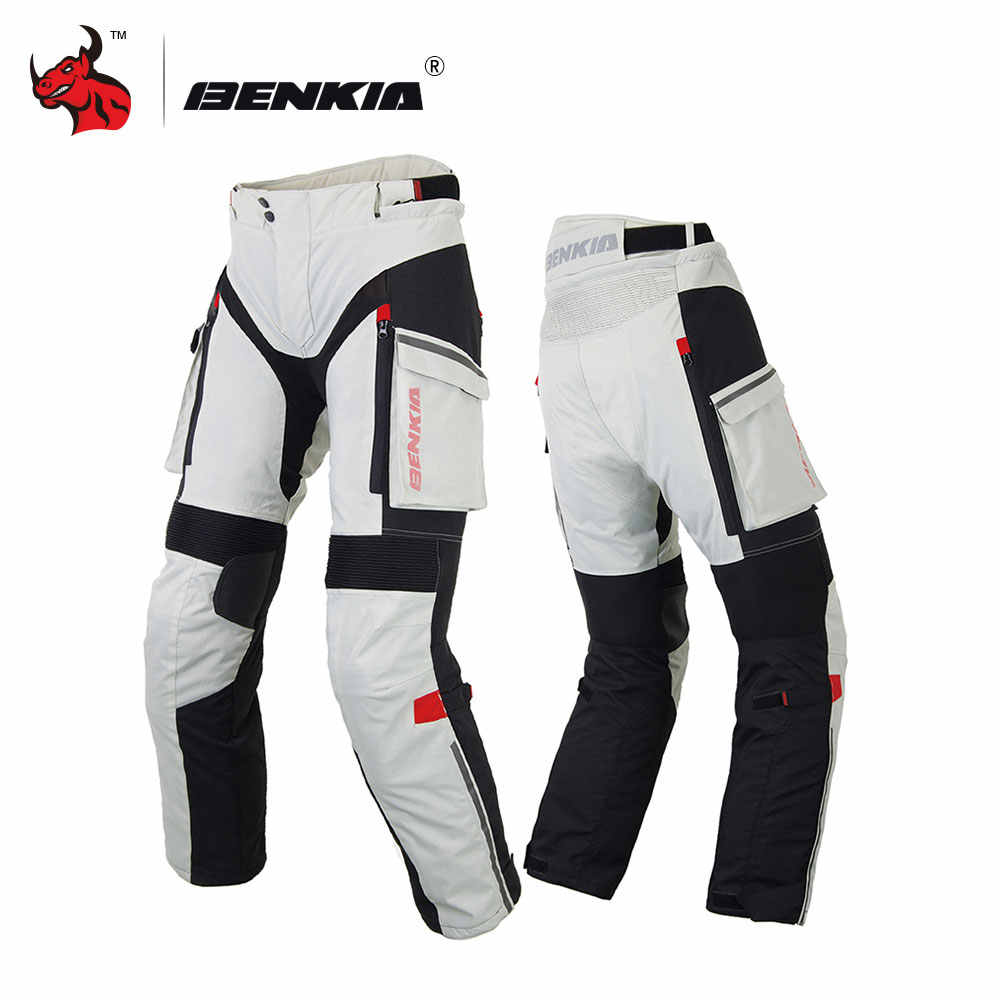 BENKIA Motorcycle Pants Men Winter Rally Pants With Detachable Warm Liner Off Road Motocross Trousers Pantalon Moto S-XXXXL