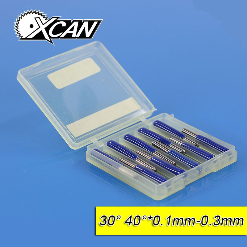 XCAN 10pcs/lot V Shape flat bottom Carbide PCB Engraving Bits CNC Router Tool 30 40 degree metal cutter mini drill bit ягоды карелии сироп красносмородиновый с мякотью 0 51 л