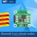 BJY901 MPU6050 saída ângulo 9-eixo Giroscópio Acelerômetro módulo Bluetooth porta UART CII Quatro-rotor de sensores sem fio