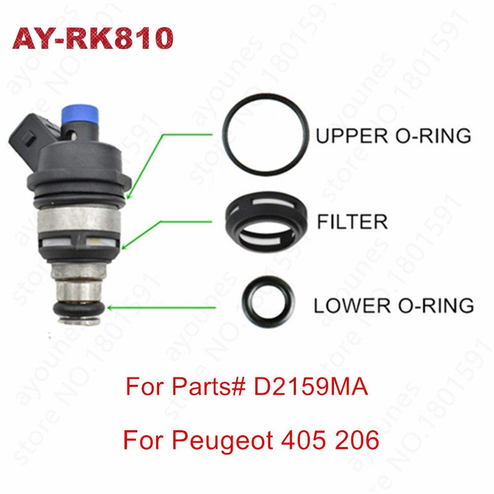 4 unids/set inyector de combustible kits de reparación para Peugeot 206 Peugeot 405 PUNTA AZUL D2159MA PG405 (AY-RK810)