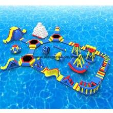 Гуанчжоу фабрика коммерческий открытый гигантский надувной аквапарк
