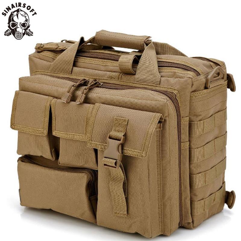 SINAIRSOFT Men'S Travel Bag Shoulder Outdoor Sport Bag Molle Rucksack Laptop Computer Camera Mochila Military Tactical Messenger