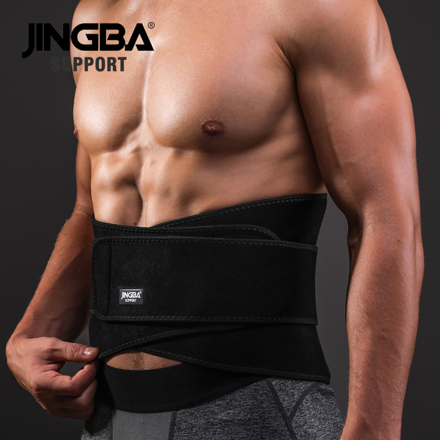 JINGBA SUPPORT Sport Girdle Belt Sweat Waist Abdominal Trainer Trimmer Belt Fitness Equipment Sports Safety Back Support