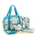 Мода горошек детские пеленки мешок набор водонепроницаемый tote женщин сумка мама Сумка для путешествий подгузник сумка многофункциональный коляски, пеленки мешок