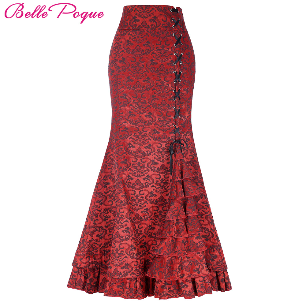 2017 Womens Ruffles Skirts Frilly Sexy Maxi Skirt Long ...
