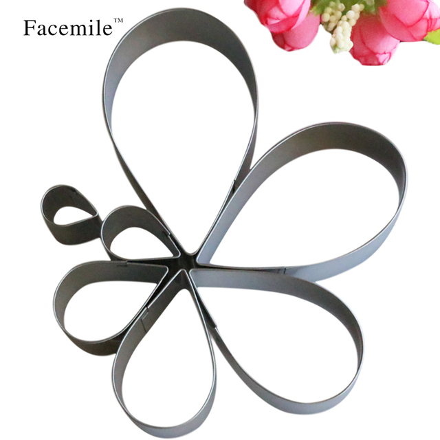 7pcs/set Stainless Steel Rose Petal Cake Cookie Cutter Mold Pastry Baking Mould Fondant Biscuit Cutter 52111