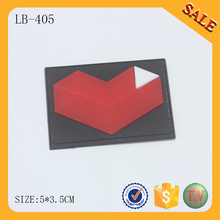 LB405  Custom clothing labels personalized garment tags silicone rubber label