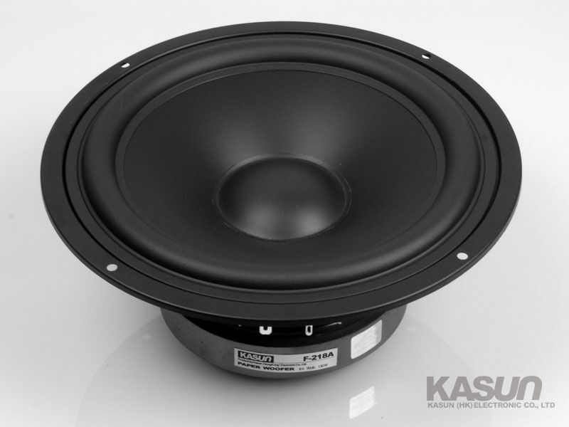 2PCS New KASUN F-218A 8'' Paper Woofer Speaker Unit PP Cone 8ohm/140W Max Diameter 218mm Fs 39Hz 2pcs kasun qa 8100 8inch woofer speaker driver unit paper cone 8ohm 140w dia 218mm fs 45hz