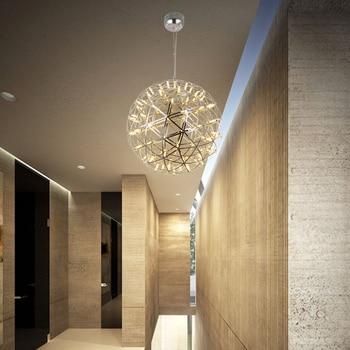 Modern Creative Restaurant Pendant Lamp LED G4 Stainless Steel Spherical Chandelier Decorative Lighting Indoor Lighting