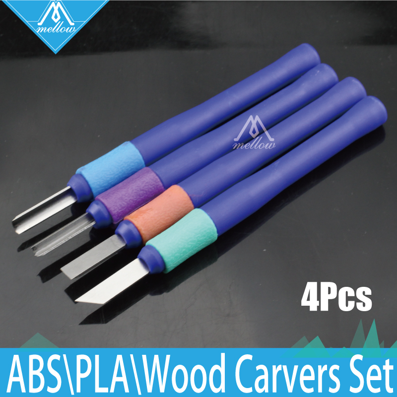 4PCS Wood Carvers sæt 3D Printer DIY Tool Kit Sæt med Carving Knives Skulptur Tool Kit til fjernelse af 3D-filament filament