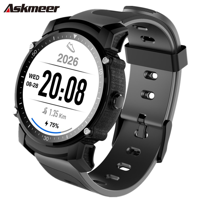 ASKMEER FS08 Smart watch men IP68 Waterproof GPS sports Fitness tracker Heart rate monitor wrist smartwatch for IOS and Android