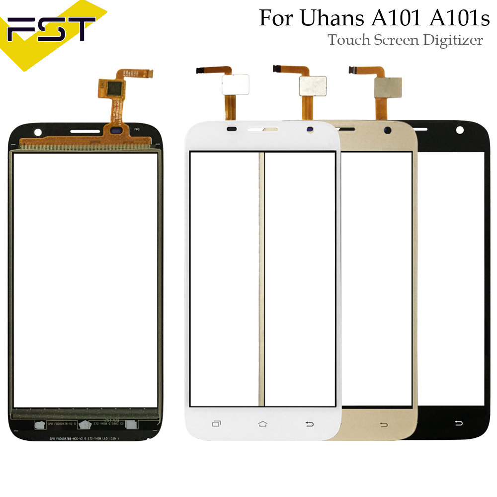 5.0 '' Touch Screen Digitizer For Uhans A101 A101s Front Glass Lens Mobile Phone Touch Panel Sensor Tools+Tape Touchscreen