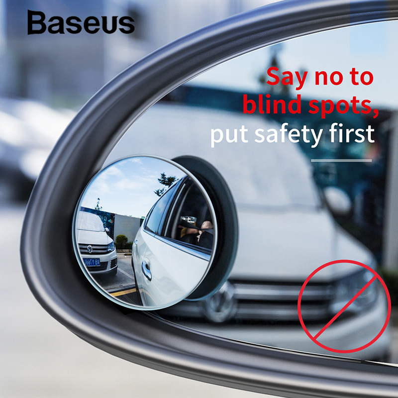 Baseus 2pcs Full Vision Rear View Mirror Universal 360 Degree Wide Anger Blind-spot Mirror Waterproof Auto Mirror Product
