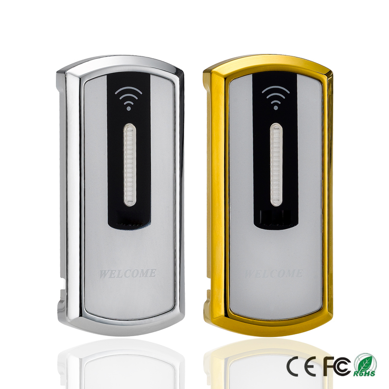 Zinc Alloy Metal Digital RFID Electronic Locker Lock Cabinet Door With External Power Supply And 2 Keychains