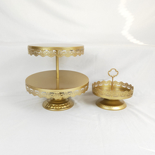 цены 2Pcs New Style Gold Decorating Supply Wedding Crystal Wholesale Cake Stand
