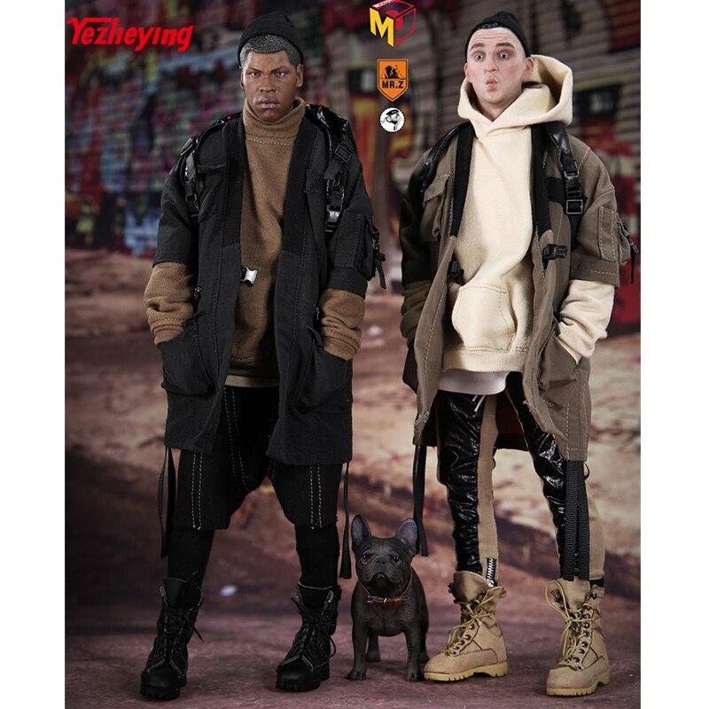MCCToys escala 1/6, Sr. Zhu Mini armario MCC012 13 de los niños de la calle de hip hop de punto traje de 12 pulgadas acción personajes-in Figuras de juguete y acción from Juguetes y pasatiempos    1