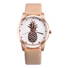 Элитный бренд мода пара Часы wo Для мужчин S Для мужчин ананас Искусственная кожа аналоговые кварцевые часы Montre Femme Relogio feminino
