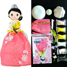 Fluffy Slime Toys Set  Soft Clay Slime supplies DIY Western Princess Dolls With Dress And Clay Education Craft Handwork Slime