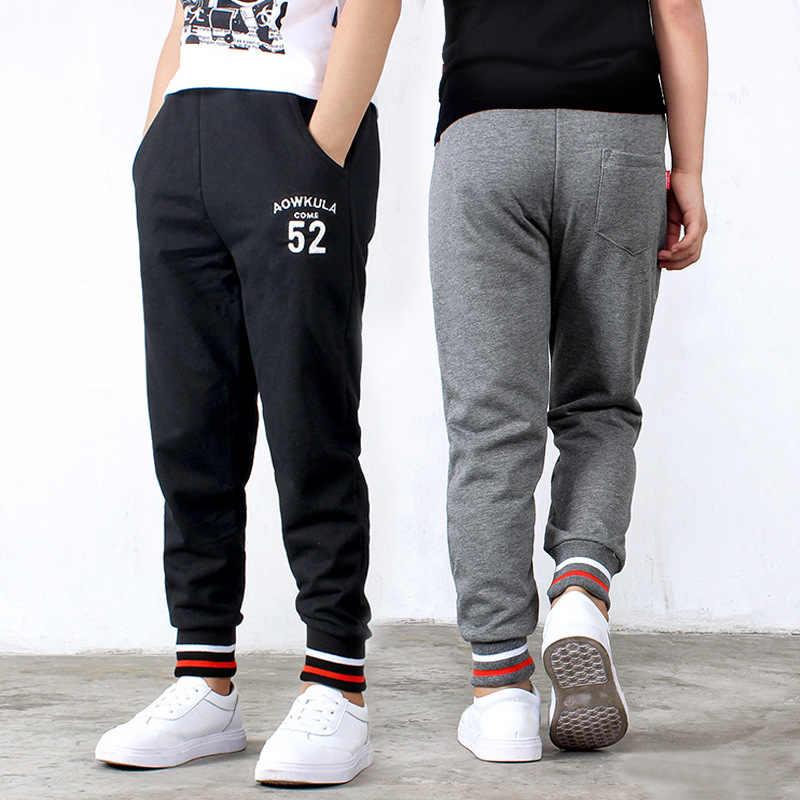 男の子スポーツパンツ韓国 2020 春の手紙ズボンスポーツ手紙カジュアル綿の十代の少年子供用レギンス 3-10Y