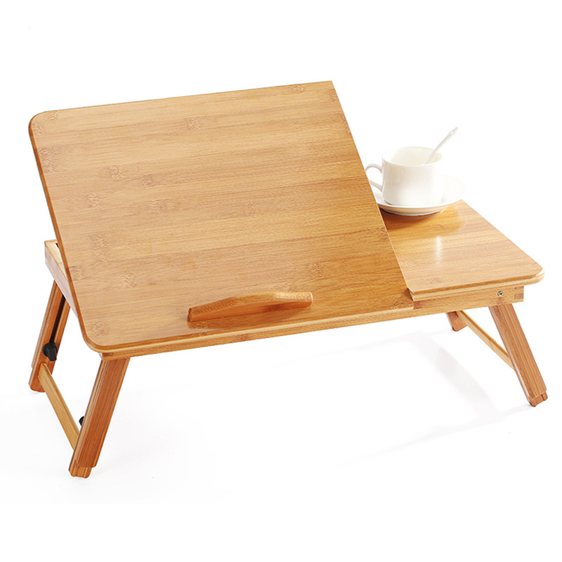 Ergonomics Adjustable Laptop Desk Pure Yellow Bamboo Table Foldable Breakfast Serving Bed Tray Cozy USA Russia Stock