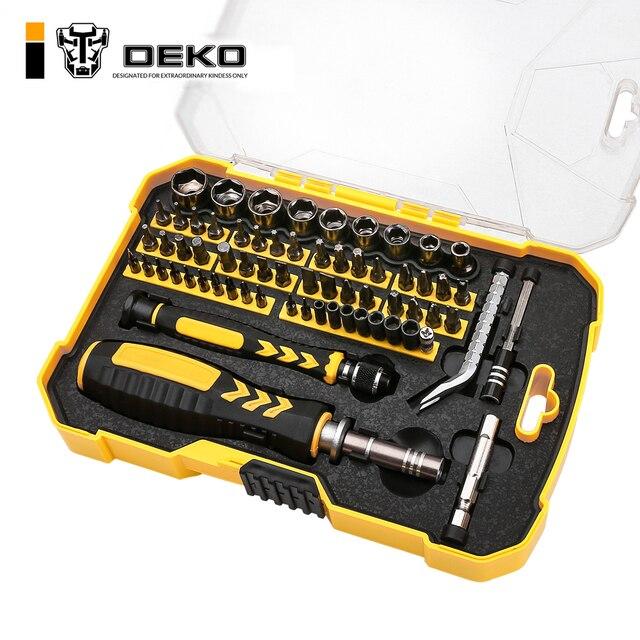 DEKO LSD03 инструмент для ремонта комплект гаечных ключей отвертка комплект бытовой Набор отверток Магнитный Набор отверток для бытовых