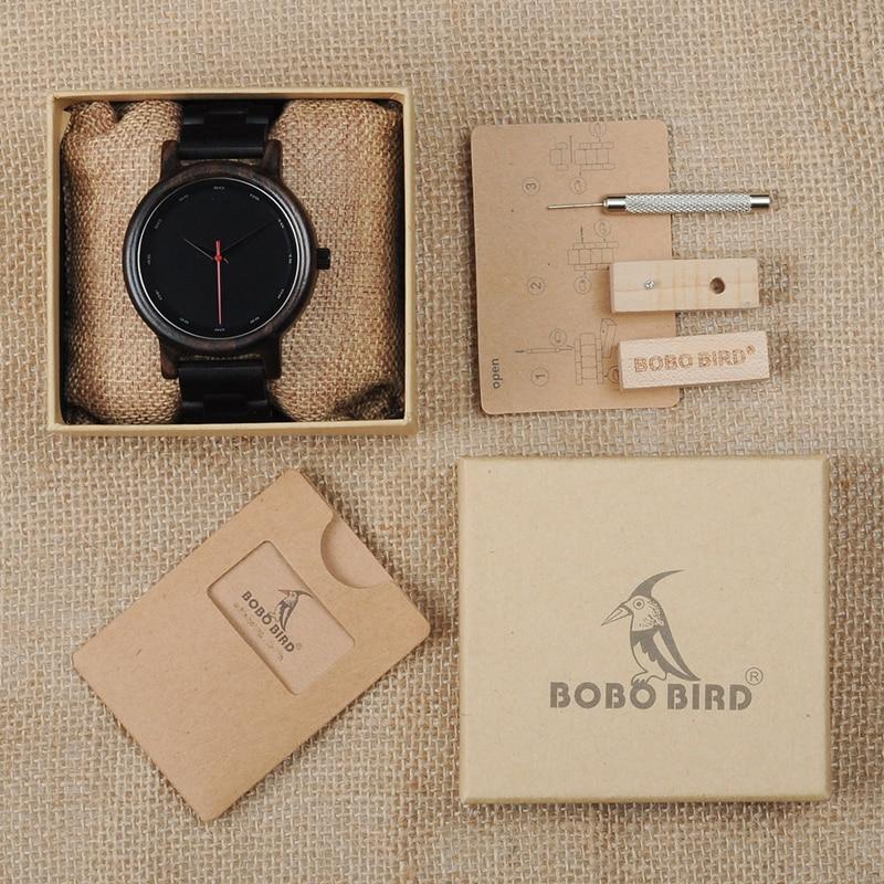 BOBO BIRD Men High Quality Bamboo Wooden Watches 15