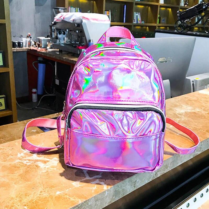 Womens Bag Laser Bags Mini Backpack For Girls Holographic Waterproof Backpacks For Teenagers Casual Travel Female BagpackWomens Bag Laser Bags Mini Backpack For Girls Holographic Waterproof Backpacks For Teenagers Casual Travel Female Bagpack