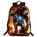 Sales Promotion Hot Oxford 16-Inch Prints Hero Iron Man Children Schoolbag Kids Baby School Bags for Teenagers Gifts Backpack
