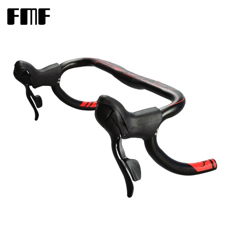 FMF leviers de frein de vélo de route en alliage d'aluminium et résine guidon de frein avant arrière leviers de frein à engrenages fixes pour guidon 22.2-23.8mm