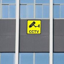 10 шт. CCTV безопасности 24 часа монитор Предупреждение стикер s знак оповещения водостойкая Настенная Наклейка галька
