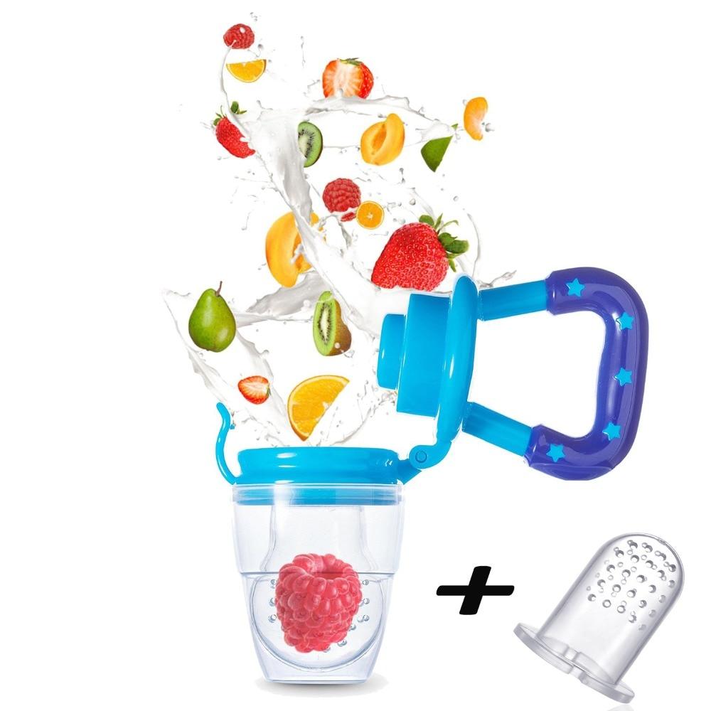 Baby Fruit Vegetable Feeder Pacifier Safe Fresh Food Feeder Teether Infant Fruit Teething Toy Bonus 1 Pc Silicone Nipple Teat