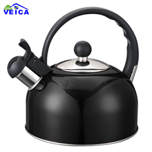 Stainless Steel 2.5L Water Kettle Induction Cooker Camping Kettles Stove Whistling Water Gas Teapot Cooking Tools Kitchen