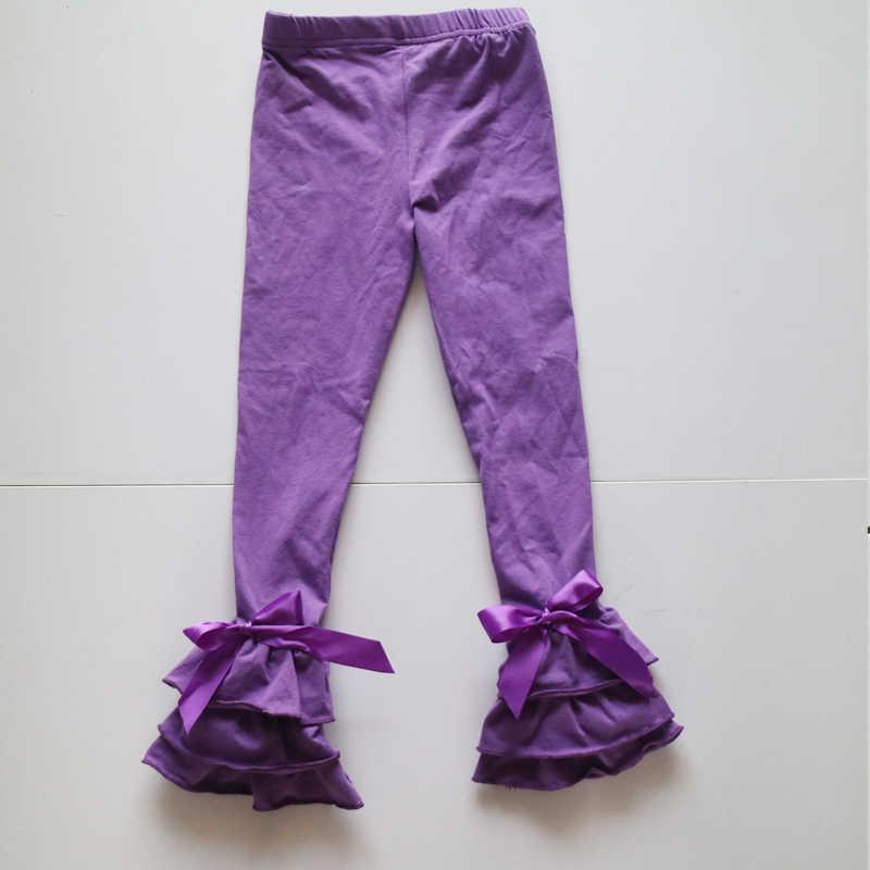 Hot Pink Warna Alami Legging 95% Katun Spandex 5% Mode Celana Kualitas Tinggi Baru Celana Dalam Icing Ruffle Celana Dalam