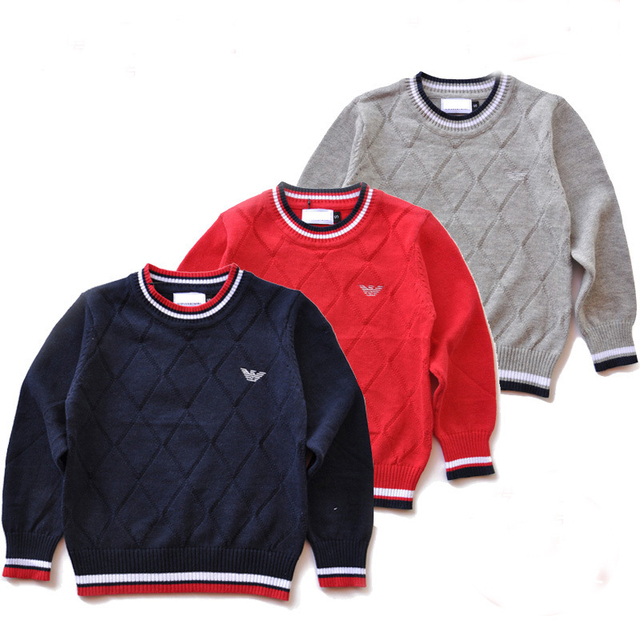 2016 Europe and America Brand Boys Cardigan Sweater Long Sleeve Luxury Sweater Knitting Pattern Baby Costume Kids Coat Outwear