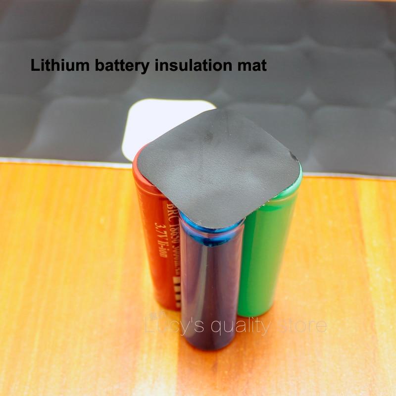 Купить с кэшбэком 100pcs/lot 18650 Universal Lithium Battery Diy High Temperature Insulation Mat 4 Section Pack Sheet