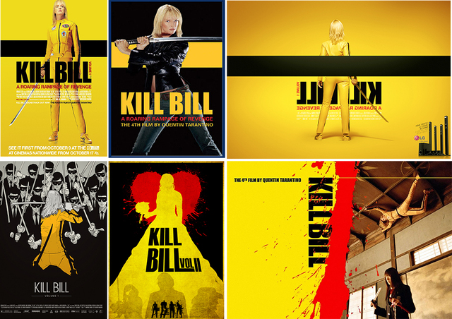 Kill bill poster clear image wall stickers home decoration good quality prints white coated paper home