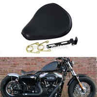 13 6 Leatheroid Motorcycle Solo Spring Saddle Seat For Harley Sportster Nightster Bobber Customs