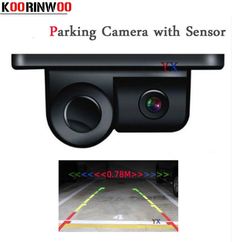Koorinwoo Car rear view camera parking sensor Sound Alarm Vehicle Reversing Cam Back up Radar System Parking System parktronic