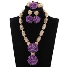 Handmade Green African Beads  Nigerian Bridal Jewelry Set Marvelous Design Free Shipping PJW136