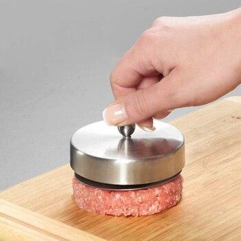 Rvs Hamburgers Mold Maker Handbediende Burger Druk Keuken