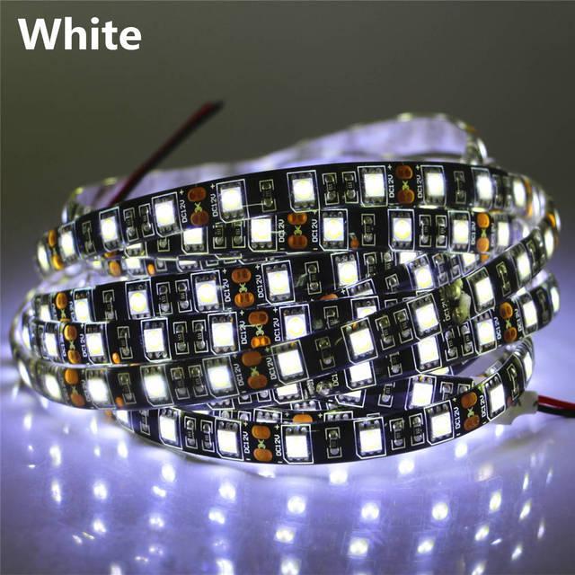 50cm 1m 2m 3m 4m 5m Black PCB SMD5050 LED Strip light 12V 60LEDs/m LED Diode Tape Black Lamp Waterproof RGB LED Ribbon lighting